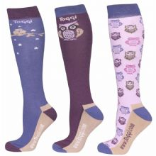 TOGGI PACK OF 3 LUZON OWLS PEACOCK SOCKS - RRP £17.00
